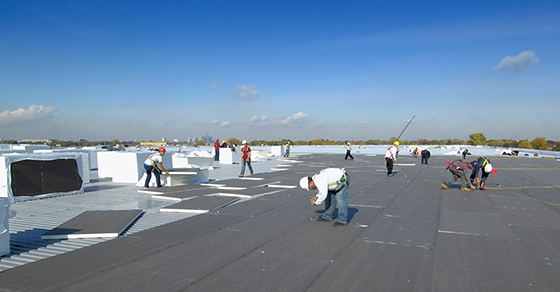 Cleaning Commercial Roof
